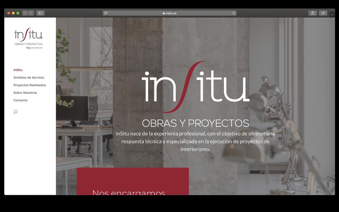 Nueva web de InSitu Obras y Proyectos