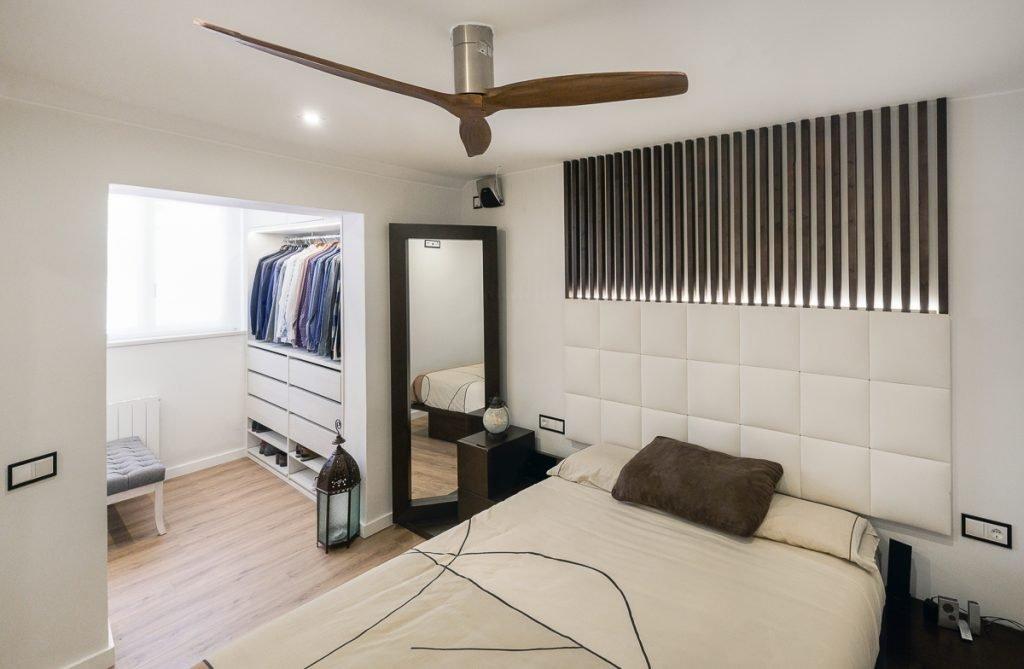 reforma de dormitorio con el espacio de vestidor